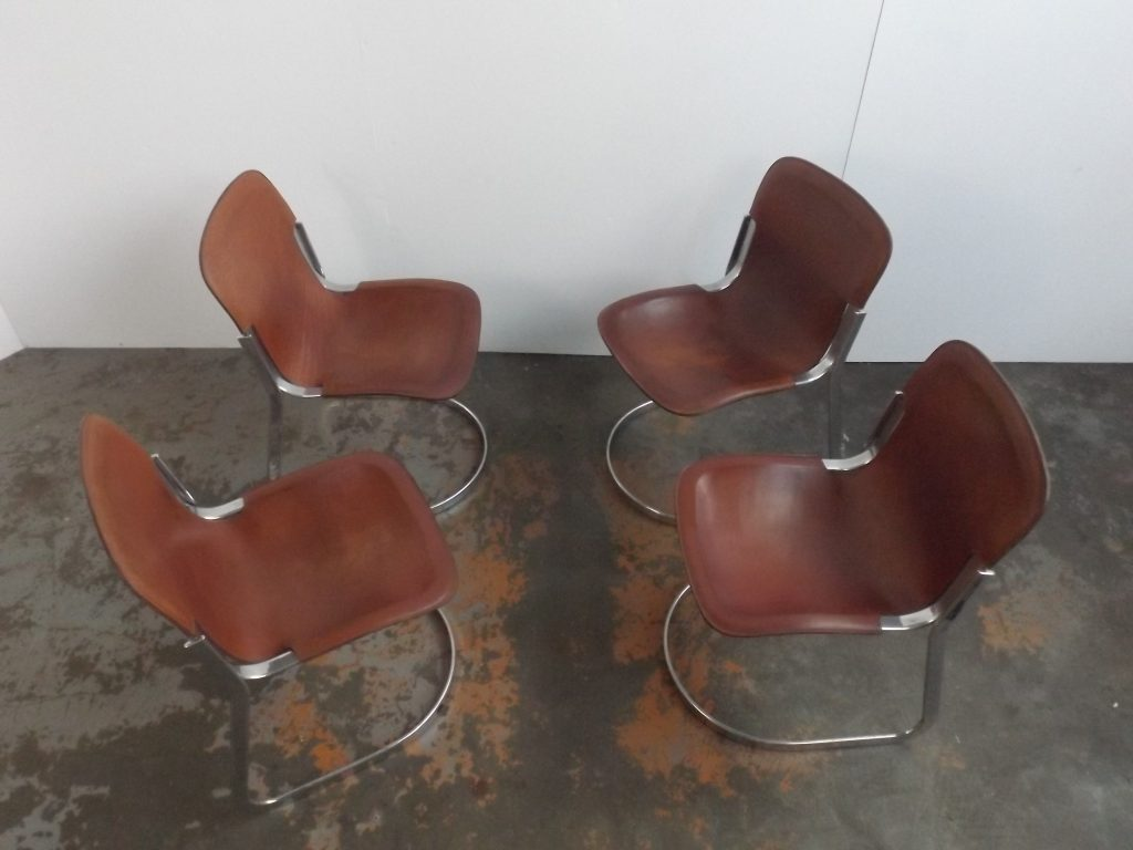 Willy Rizzo set of 4 diner chairs