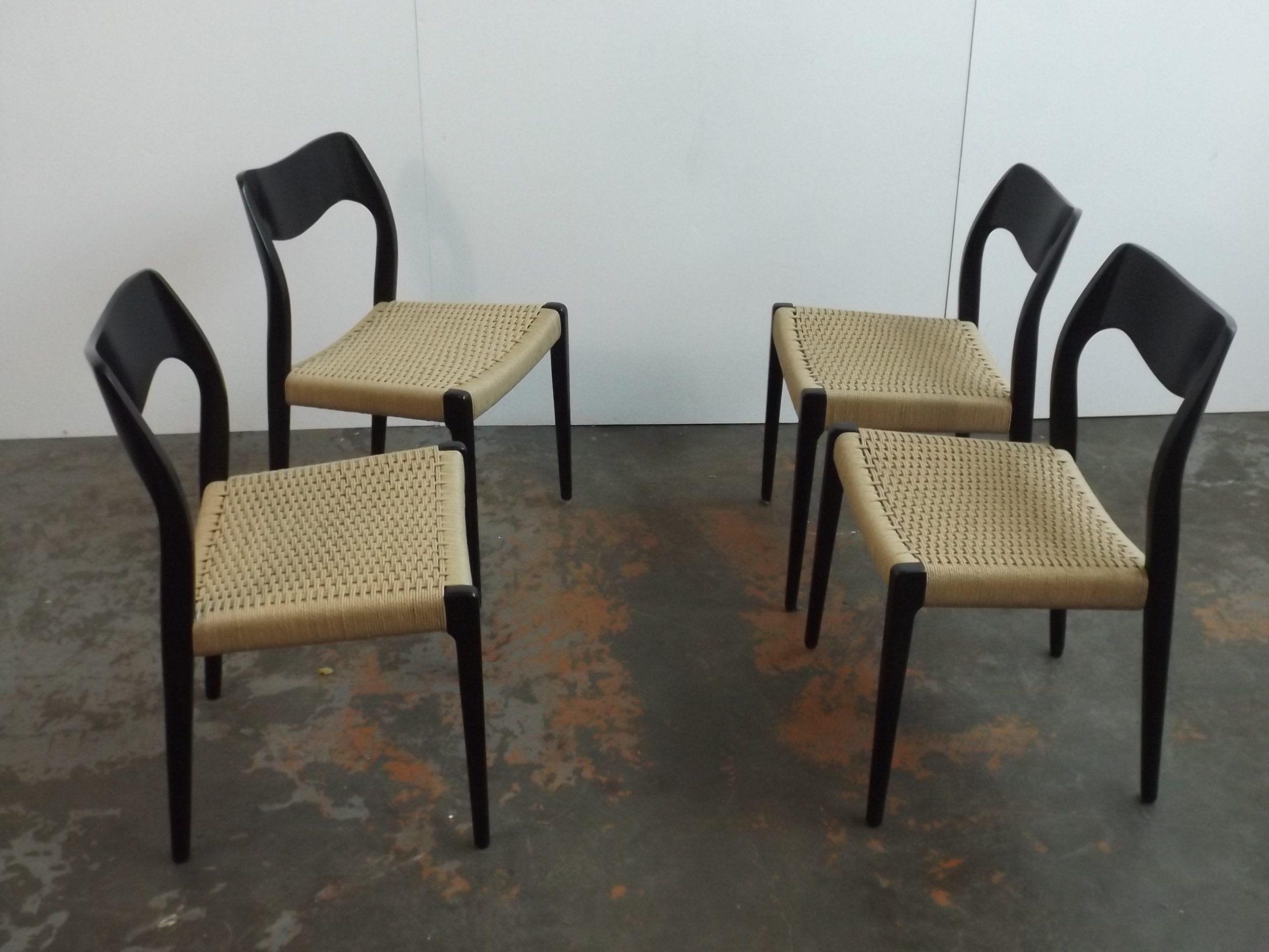 Set of 4 Otto Müller chairs