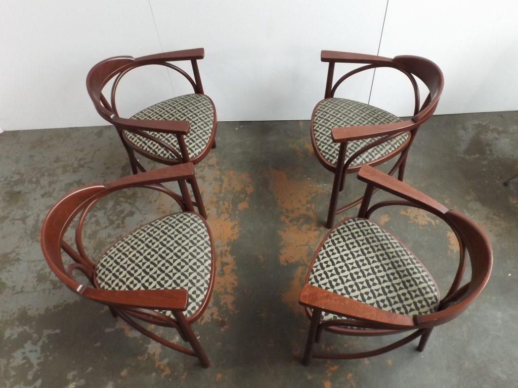 Set of 4 Rondo chairs Thonet Model 81