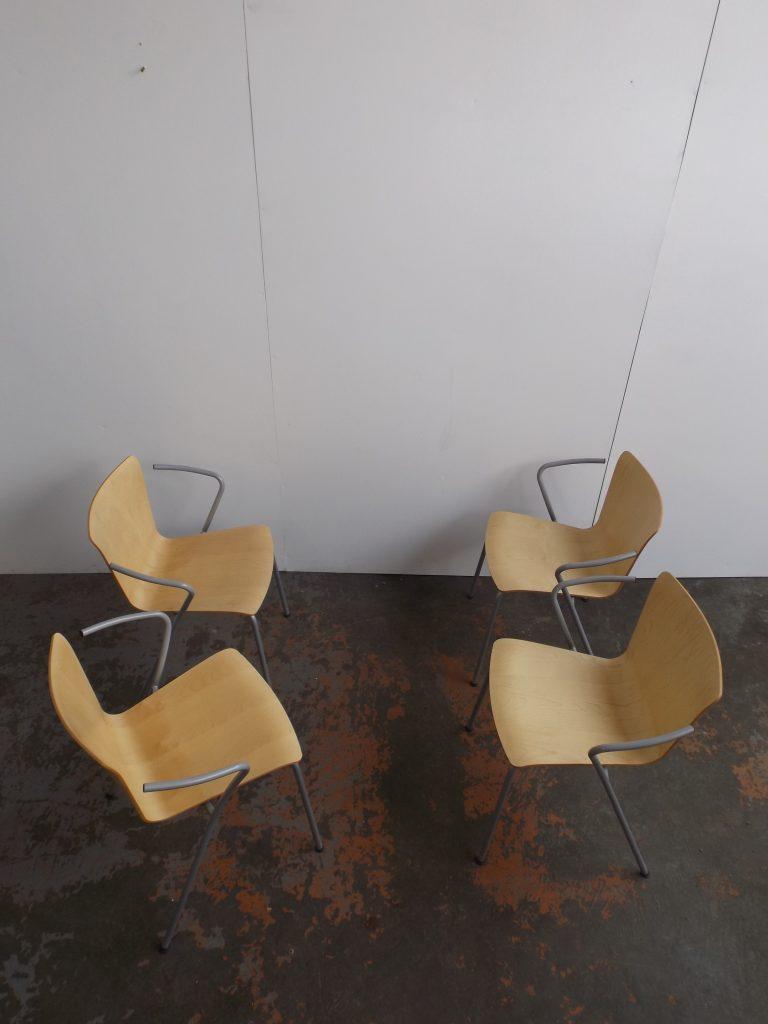 Set of 4 Vico Duo VM111 Fritz Hansen Chairs