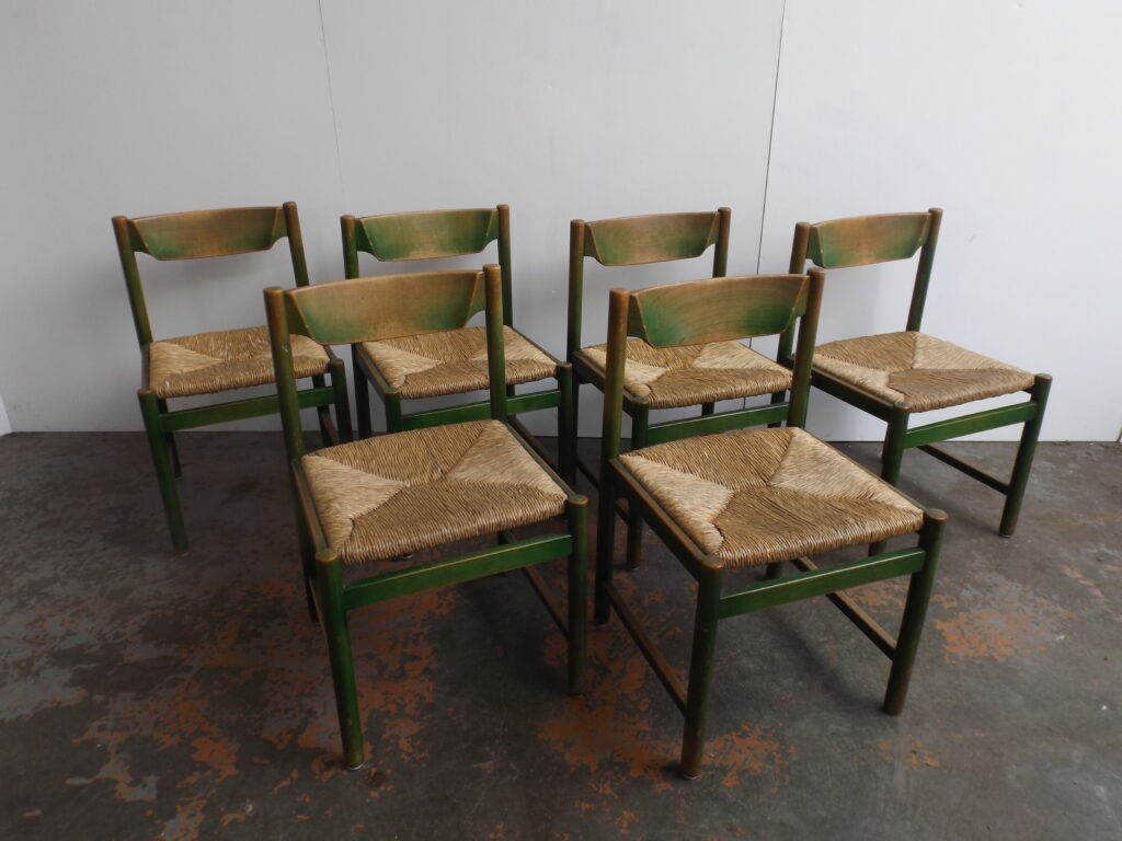 Set of 6 Italian wooden chairs