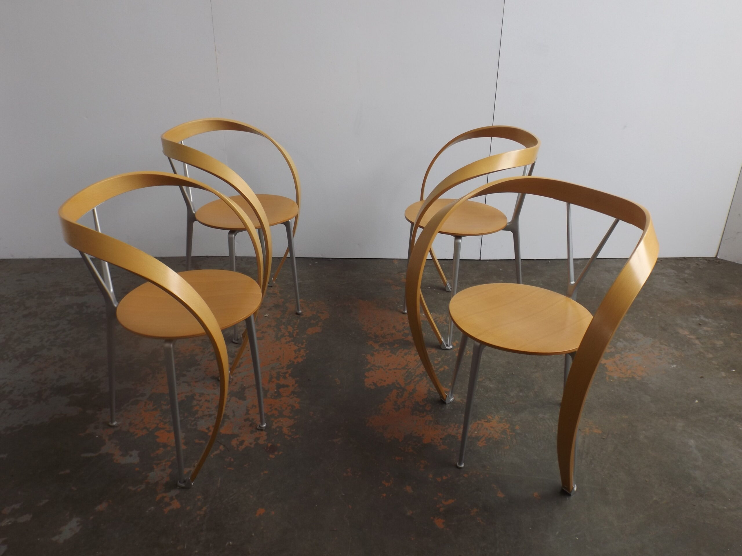 Set of 4 Reverse Chairs Cassina