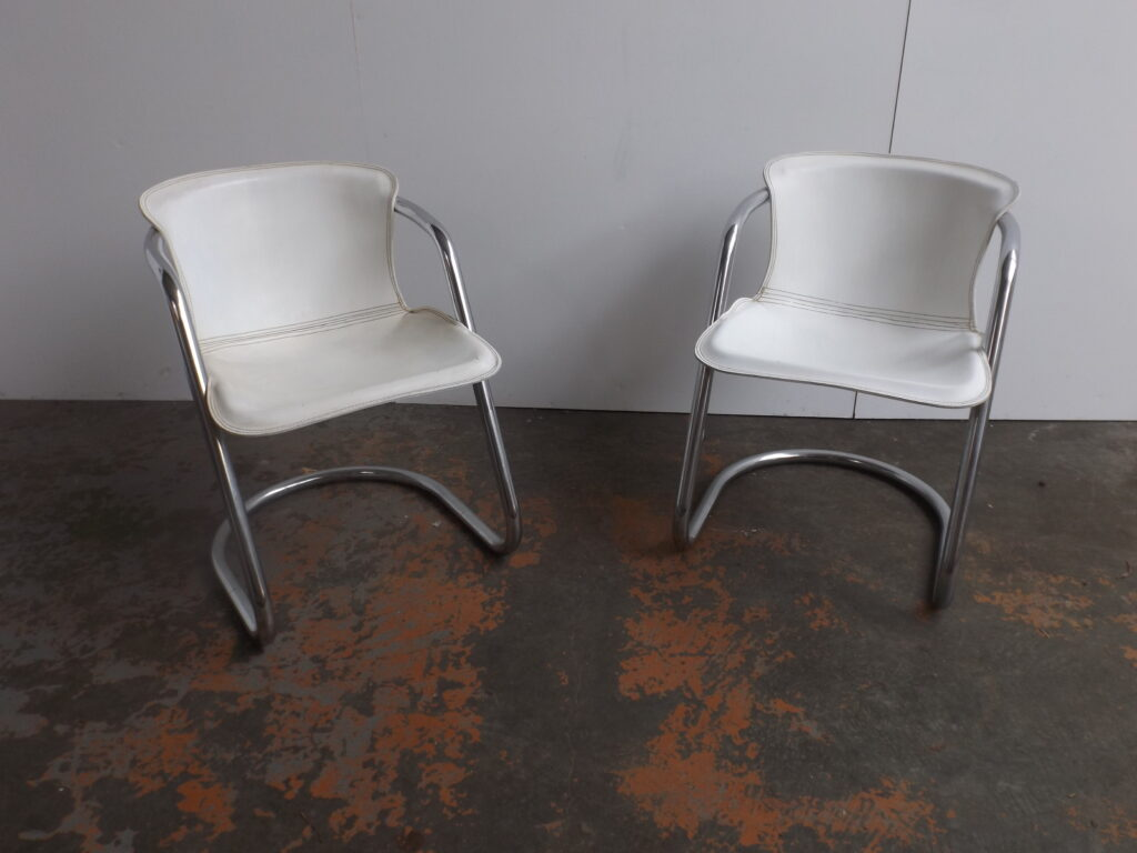 Set of 2 Willy Rizzo dining Chairs